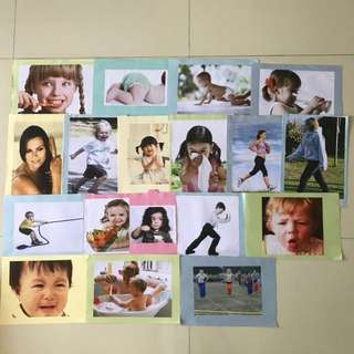 Flashcard actions pictures