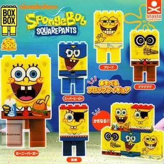 {Feb Gacha PO}  BOX BOX スポンジ・ボブ スクエアパンツ Sponge Bob SQUAREPANTS  5pcs set