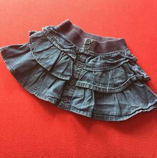 Hip denim skirt
