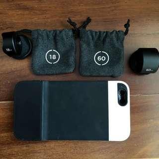 Moment V1 lenses + case