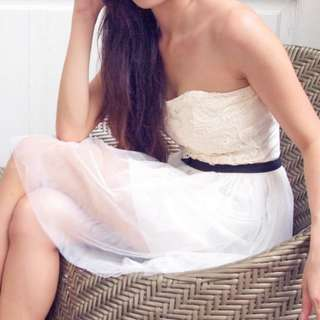 blogshop sweetheart bustier lace tube dress