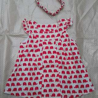 Dress gajah merah