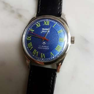 Vintage 70's hmt Jawan 17J Hand Wind Watch.