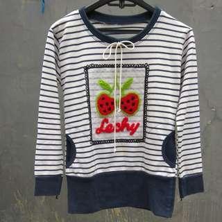 Sweater garis navy