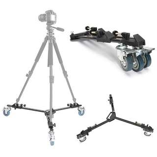 Pxel AA-TP Heavy Duty Folding Tripod Dolly with 3 Wheel Slider Stand