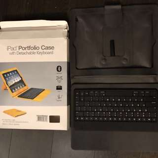 iPad Portfolio Case with detachable keyboard