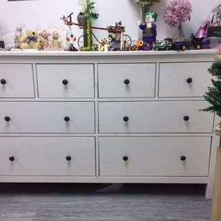 9成新Ikea白色櫃