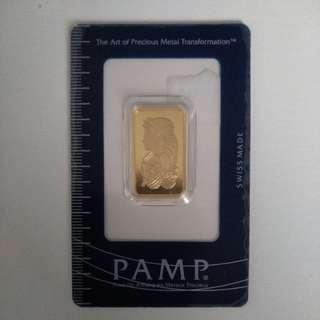 10g PAMP GOLD BARS