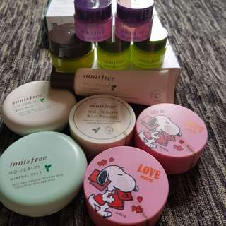 *Last few* Innisfree snoopy No Sebum Mineral Powder pact primer capsule