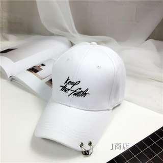 """""""KEEP THE FAITH"""" WHITE CAP (READY STOCK)"""