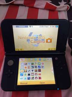 New Nintendo 3DS XL LL CFW 16GB -unit & charger only-