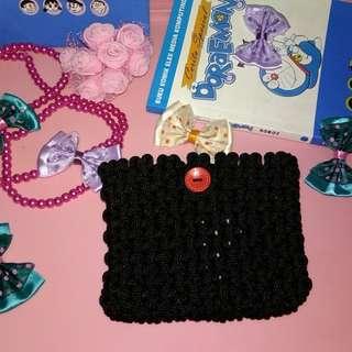 Dompet kecil lucu warna hitam