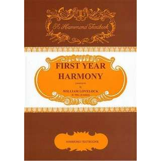 HAMMOND TEXTBOOKS: FIRST YEAR HARMONY