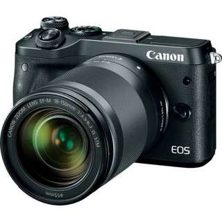 kredit Tanpa Kartu kredit Canon EOS M6 Mirrorless Digital Camera with 18-150mm Lens
