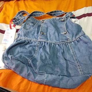 Jean bag new with purchase