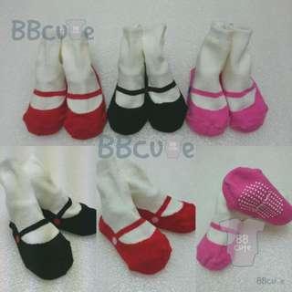 黑色 / 紅色 / 桃紅色芭蕾造型防滑襪