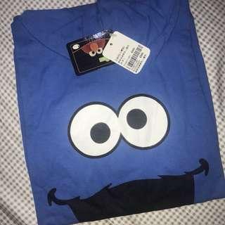芝麻街cookie monster連帽背心🍪🍭