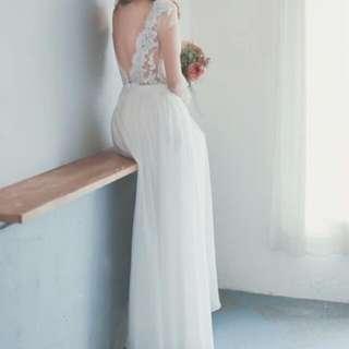 露背輕婚紗
