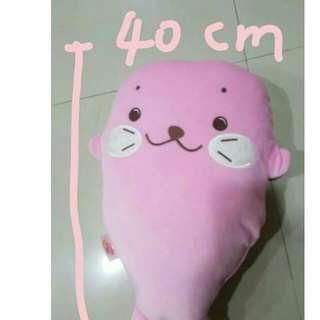 粉紅海豹 抱枕