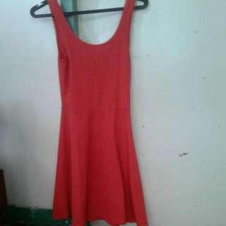 Red Cotton ON Skater Dress