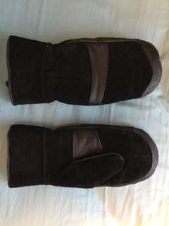 Leather gloves -$18