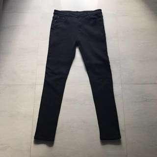 Winter jeans with fleece interior (black)