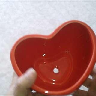 陶瓷小紅心花盆