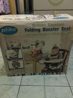 Folding boaster seat