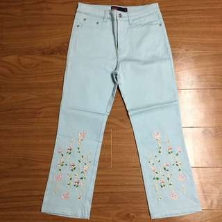ZION Embroidered Jeans
