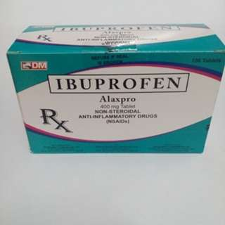 Ibuprofen 400mg x 100 tablets (Generic Name of Medicol) can be sold half box P85.00