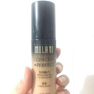 Milani conceal + perfect fondation concealer!