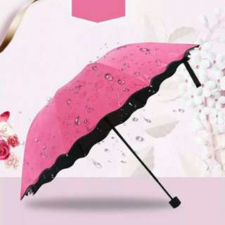 Magic Blossom flowers umbrella w/ UV protection
