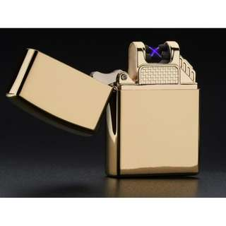 Pulse Arc Electronic Lighter (Double Arc) - Model 001 Gold