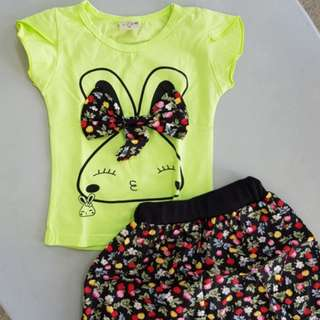 Cute Baby Set - Floral Rabbit