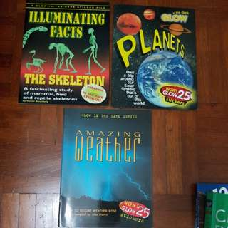 Science magazines - planets, weather, skeleton