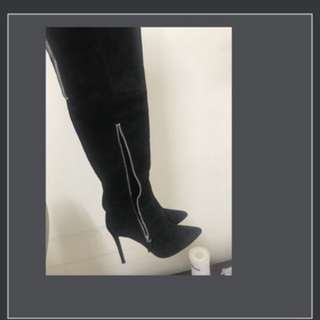 Tony Bianco thigh leather boots