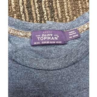 TOPMAN BLUE ROUNDNECK SHIRT