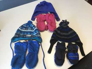 Lot of winter hats and mitts -$10 all