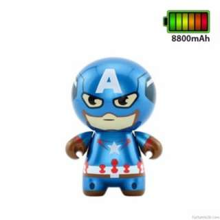 Marvel Captain America Chibi Figure 8800Mah Powerbank