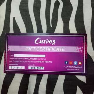 Curves Gym giftcert