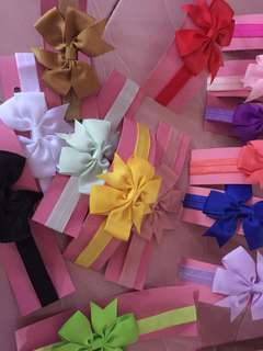 Baby Headband Ribbon Flower