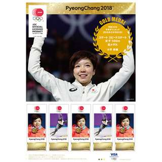 2018 平昌冬奧 日本代表  小平奈緒 高木美帆 選手 紀念郵票