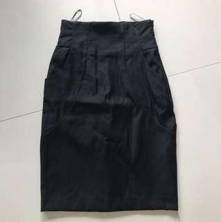 Mango suit black skirt