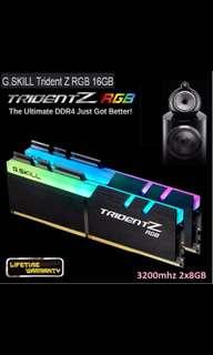Gskill Trident Z RGB 3200 c16 8gb *2