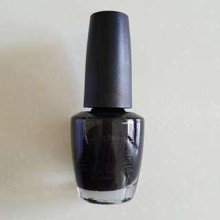 OPI Black Onyx NLT02 (Green Label)