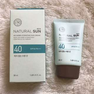 The Face Shop Natural Sun No Shine Sun Cream