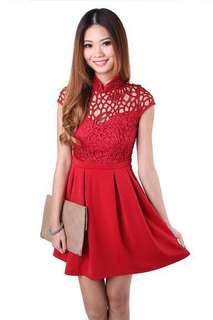 BNIB MGP mandarin collar net dress