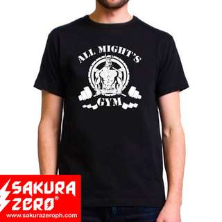 Boky no hero Academia All might's Gym Anime Black T Shirt