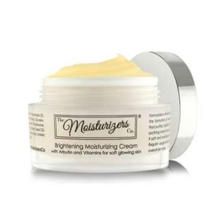 Brightening moisturizing cream with arbutin and vitamins for soft glowing skin