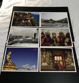 Bhutan Postcard / Post Card / 明信片 (6 Pieces)